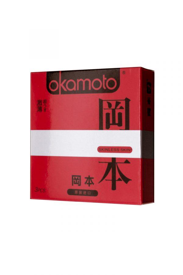 Презервативы Окамото серия Skinless Skin  Super thin  № 3 Ультра-тонкая классика, Категория - Презервативы/Классические презервативы, Атрикул 0T-00008079 Изображение 1