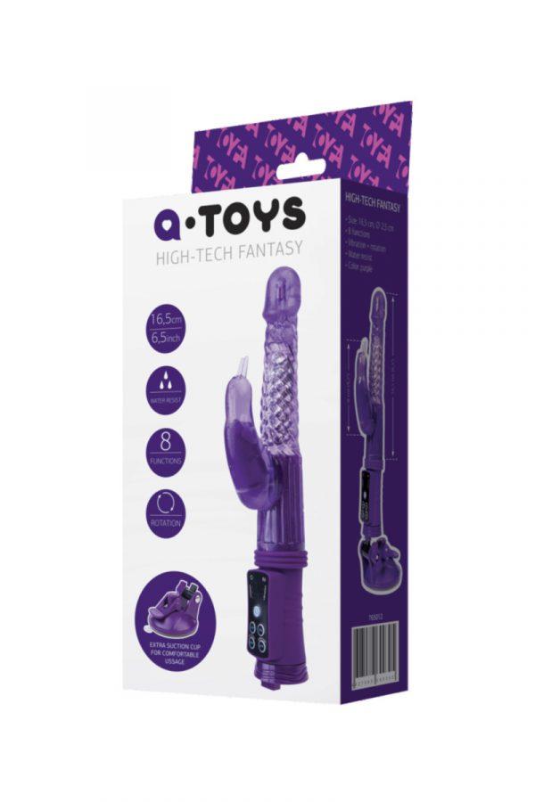 Вибратор с клиторальным стимулятором TOYFA A-Toys  High-Tech fantasy, TPR, Фиолетовый, 24 см, Категория - Секс-игрушки/Вибраторы/Вибраторы с клиторальным стимулятором, Атрикул 0T-00008070 Изображение 2