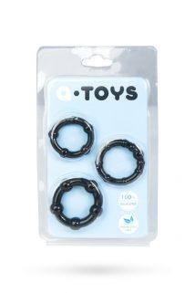 Набор колец TOYFA A-toys, TPE, Черные, Ø 3,5/3/2 см, Категория - Секс-игрушки/Кольца и насадки/Наборы колец и насадок, Атрикул 0T-00008391 Изображение 1