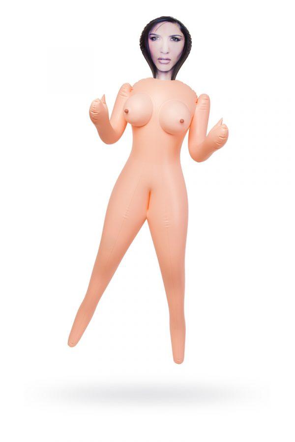 Кукла надувная Cassandra , брюнетка, TOYFA Dolls-X, с двумя отверстиями, 160 см, Категория - Секс-игрушки/Секс куклы/Женщины, Атрикул 0T-00008693 Изображение 1
