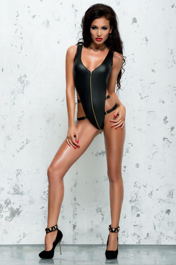 L/XL Боди Me Seduce Bond Me Blanche, экокожа, черное, L/XL, Категория - Белье и одежда/Женская одежда и белье/Боди и комбинезоны, Атрикул 0T-00008870 Изображение 1