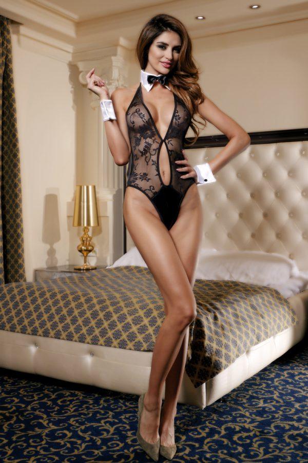 XL XL Костюм официантки Candy Girl (боди, воротник, манжеты), чёрно-белый, Категория - Белье и одежда/Женская одежда и белье/Игровые костюмы, Атрикул 0T-00011118 Изображение 3