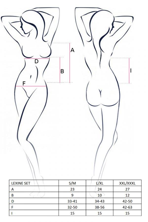 S/M Комплект Passion Erotic Line Lexine (лиф и стринги), чёрный, S/M, Категория - Белье и одежда/Женская одежда и белье/Комплекты одежды и белья, Атрикул 0T-00009203 Изображение 2