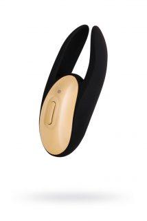 Вибромассажер WANAME D-SPLASH  Wave Силикон Чёрный, 9,3 см., Категория - Секс-игрушки/Вибраторы/Вибраторы с клиторальным стимулятором, Атрикул 0T-00010037 Изображение 1