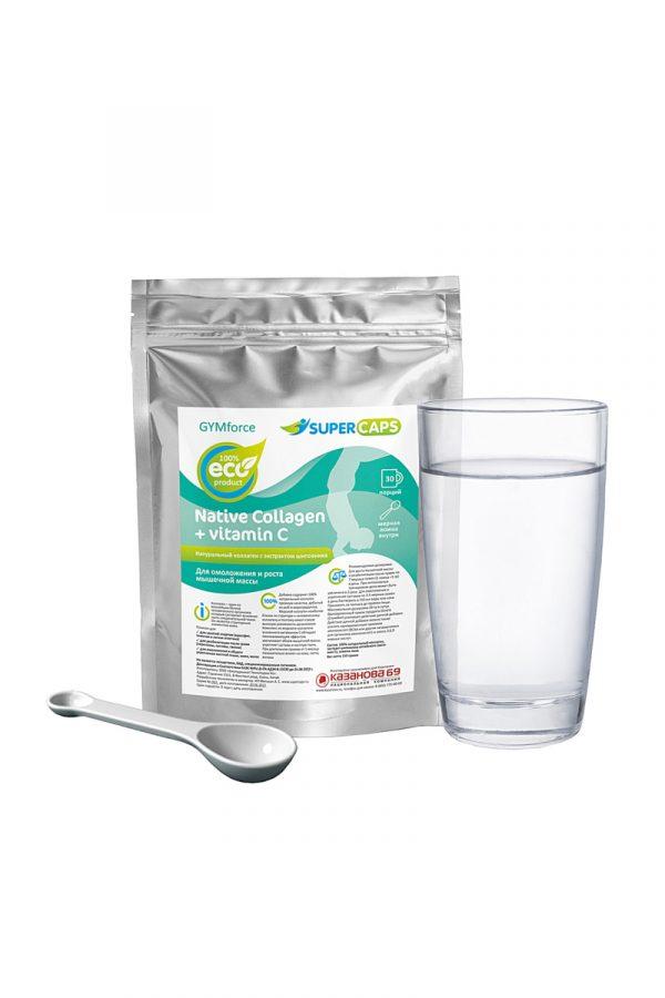 Напиток GYMforce.натуральный коллаген с витамином С,150гр, Категория - БАДы/БАДы унисекс, Атрикул 0T-00010106 Изображение 2