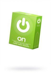 Презервативы ''ON)'' Fruit & Color №3 - цветные/ароматизированные (ширина 54mm), Категория - Презервативы/Классические презервативы, Атрикул 0T-00010009 Изображение 1