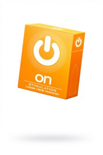 Презервативы ''ON)'' Stimulation №3 - с точками (ширина 54mm), Категория - Презервативы/Рельефные и фантазийные презервативы, Атрикул 0T-00010012 Изображение 1