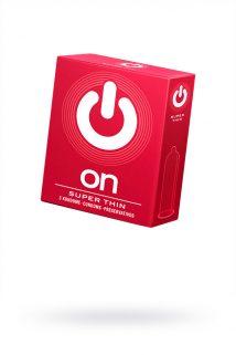 Презервативы ''ON)'' Super Thin №3 - супер тонкие (ширина 54mm), Категория - Презервативы/Классические презервативы, Атрикул 0T-00010013 Изображение 1