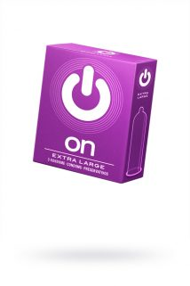 Презервативы ''ON)'' XX-Large №3 - увеличенного размера (ширина 57mm), Категория - Презервативы/Классические презервативы, Атрикул 0T-00010014 Изображение 1