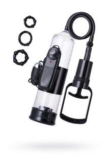 Помпа для пениса TOYFA A-Toys с вибрацией, PVC, чёрный, 22,8 см, Категория - Секс-игрушки/Помпы/Помпы для пениса, Атрикул 0T-00009389 Изображение 1
