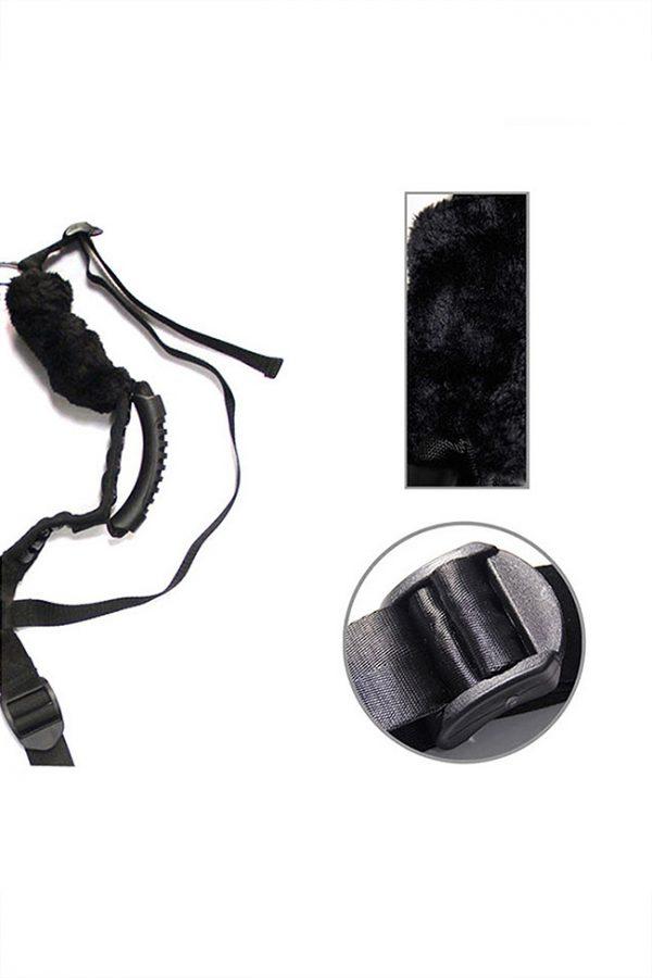 Комплект бондажный Romfun Sex Harness Bondage на сбруе, чёрный, Категория - БДСМ, фетиш/Фиксация и бондаж/Наборы для фиксации, Атрикул 0T-00009631 Изображение 3