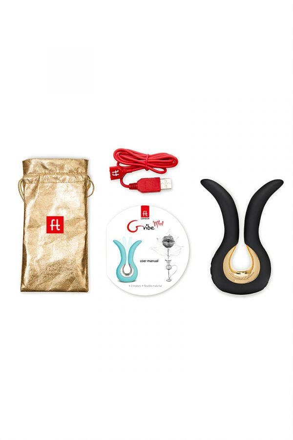 Инновационный вибратор Fun Toys Gvibe Mini  Gold,чёрный с золотом, Категория - Секс-игрушки/Вибраторы/Анально-вагинальные вибраторы, Атрикул 0T-00010433 Изображение 3