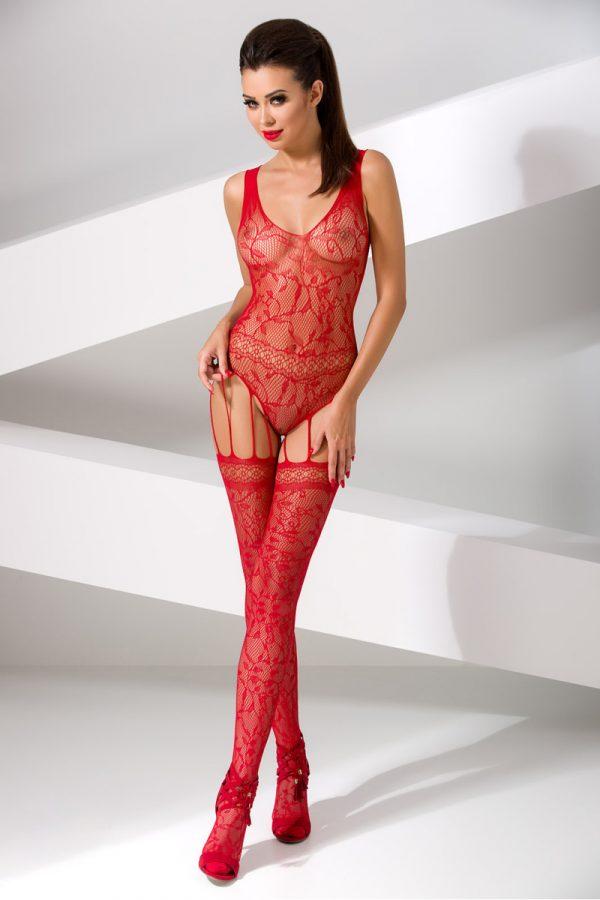 One Size Костюм-сетка Passion Erotic Line, красный, OS, Категория - Белье и одежда/Женская одежда и белье/Костюмы и платья в сетку, Атрикул 0T-00010397 Изображение 1