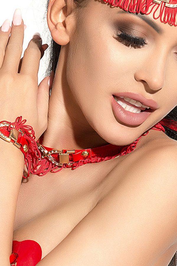 One Size Чокер Me Seduce Queen of hearts Arabesque, красный, OS, Категория - Белье и одежда/Аксессуары для белья и одежды/Украшения на голову, шею, лицо, Атрикул 0T-00010536 Изображение 2