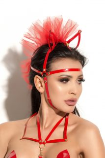 Маска с ушками Me Seduce Queen of hearts Allure, красная, OS, Категория - БДСМ, фетиш/Маски, Атрикул 0T-00010581 Изображение 1