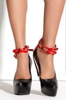 One Size Украшение на щиколотки Me Seduce Queen of hearts Bonita, красное, OS, Категория - Белье и одежда/Аксессуары для белья и одежды/Украшения на руки, ноги, Атрикул 0T-00010603 Изображение 1
