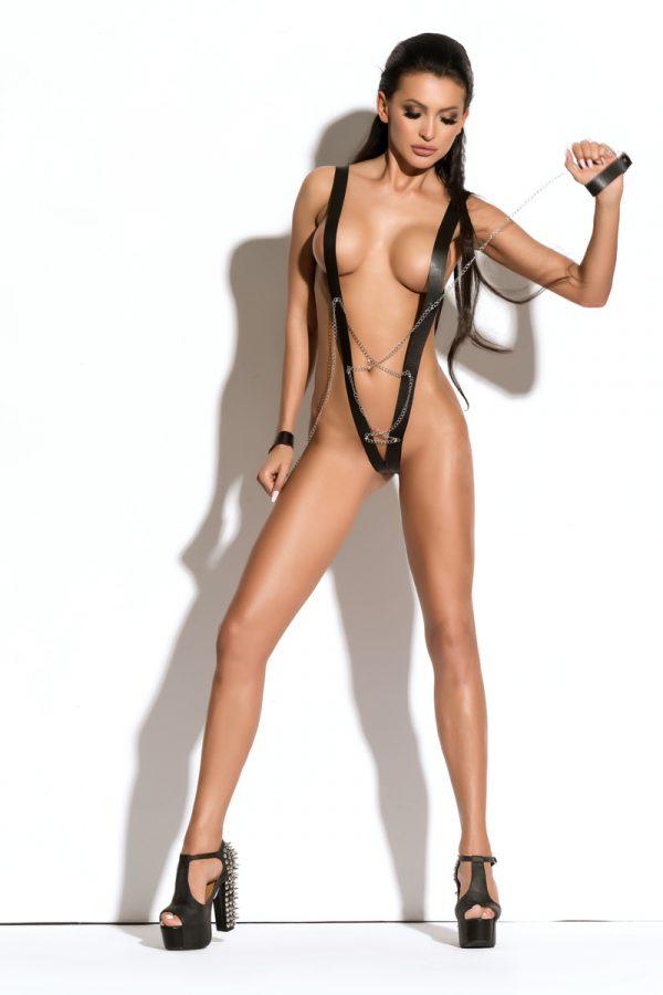 S/M Боди с наручниками Me Seduce Queen of hearts Yanne, черное, S/M, Категория - Белье и одежда/Женская одежда и белье/Боди и комбинезоны, Атрикул 0T-00010606 Изображение 1