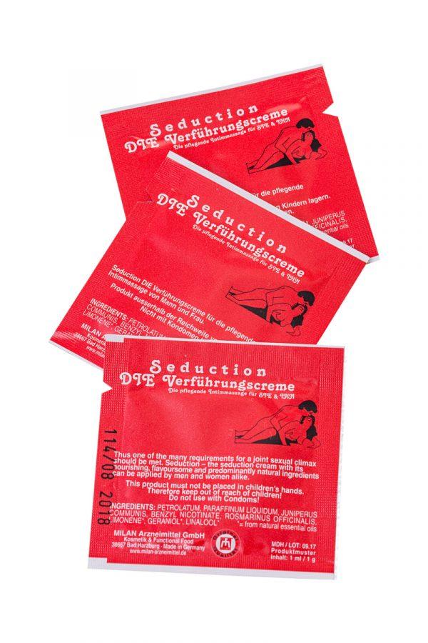 Крем стимулирующий Milan Seduction для мужчин и женщин,саше 10 шт, Категория - Интимная косметика/Кремы для стимуляции и коррекции размеров/Кремы возбуждающие, Атрикул 0T-00010655 Изображение 3