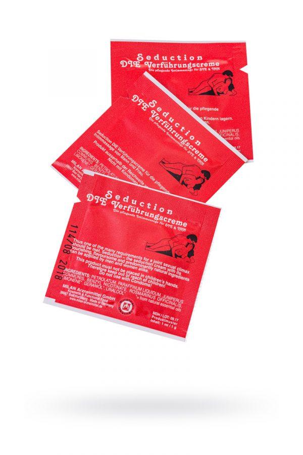 Крем стимулирующий Milan Seduction для мужчин и женщин,саше 10 шт, Категория - Интимная косметика/Кремы для стимуляции и коррекции размеров/Кремы возбуждающие, Атрикул 0T-00010655 Изображение 1
