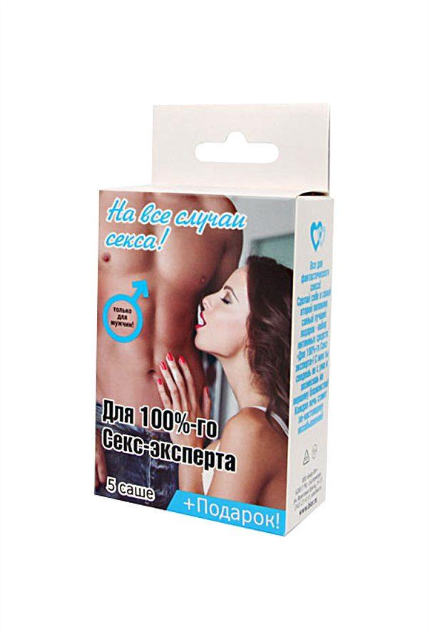 Набор'' Для 100%-го секс-эксперта'' 5 саше+ подарок, Категория - Гели, смазки и лубриканты/Гели и смазки для вагинального секса, Атрикул 0T-00010676 Изображение 3