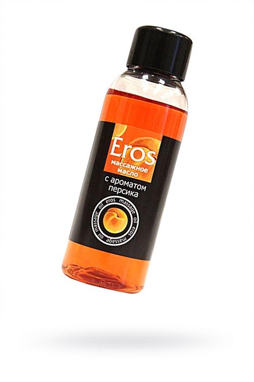 Масло массажное EROS c ароматом персика, 50 мл, Категория - Интимная косметика/Средства для массажа/Гели и масла, Атрикул 0T-00005133 Изображение 1