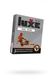 Презервативы Luxe Big Box XXL SIZE панель, 20 см., №3, 24 шт., Категория - Презервативы/Классические презервативы, Атрикул 0T-00010752 Изображение 1