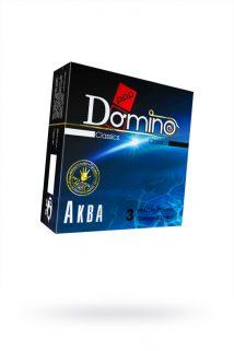 Презервативы Luxe DOMINO Classics Аква 18 см, 3 шт. в упаковке, Категория - Презервативы/Классические презервативы, Атрикул 0T-00010725 Изображение 1