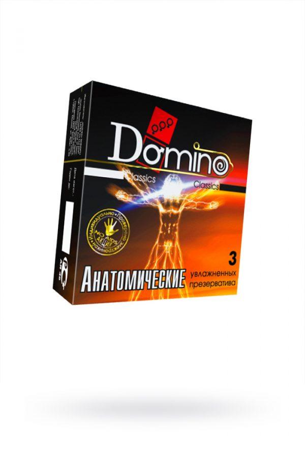 Презервативы Luxe DOMINO Classics Анатомические 18 см, 3 шт. в упаковке, Категория - Презервативы/Классические презервативы, Атрикул 0T-00010726 Изображение 1