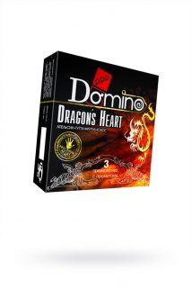 Презервативы Luxe DOMINO PREMIUM Dracon's Heart, апельсина, кокоса и фруктов, 3 шт. в упаковке, Категория - Презервативы/Классические презервативы, Атрикул 0T-00010733 Изображение 1