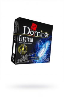 Презервативы Luxe DOMINO PREMIUM Electron, мята, лаванда и банан, 3 шт. в упаковке, Категория - Презервативы/Классические презервативы, Атрикул 0T-00010734 Изображение 1