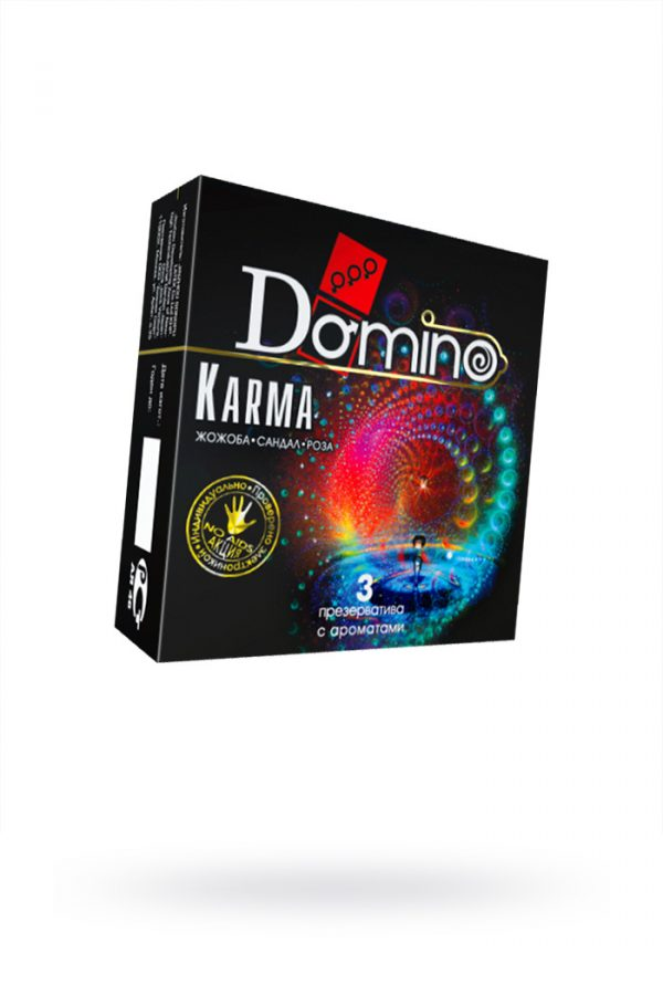 Презервативы Luxe DOMINO PREMIUM Karma, роза, жожоба и сандал,  3 шт. в упаковке, Категория - Презервативы/Классические презервативы, Атрикул 0T-00010735 Изображение 1