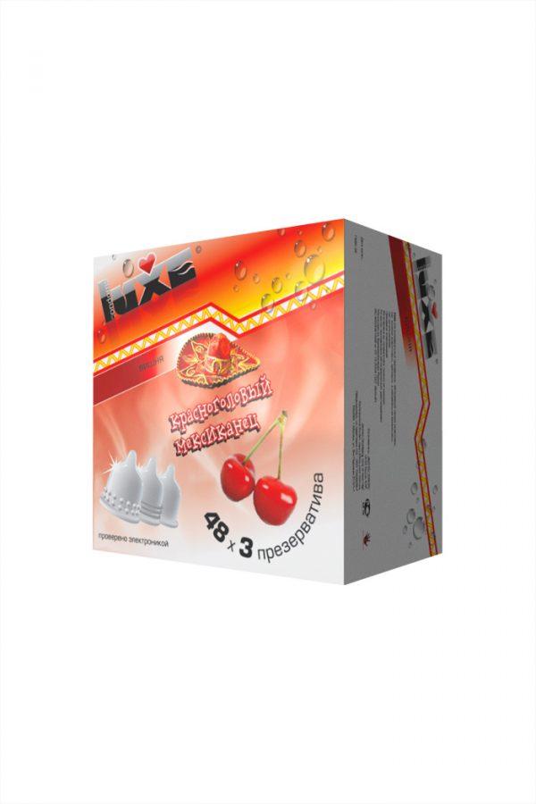 Презервативы Luxe КОНВЕРТ, Красноголовый мексиканец, вишня, 18 см., 3 шт. в упаковке, Категория - Презервативы/Классические презервативы, Атрикул 0T-00010764 Изображение 3