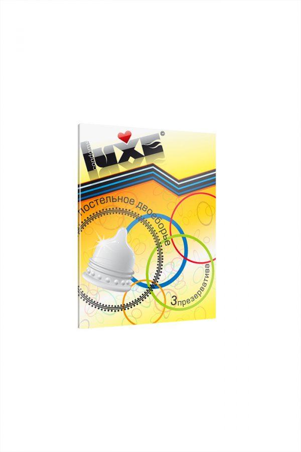 Презервативы Luxe КОНВЕРТ, Постельное двоеборье, 18 см., 3 шт. в упаковке, Категория - Презервативы/Классические презервативы, Атрикул 0T-00010772 Изображение 2