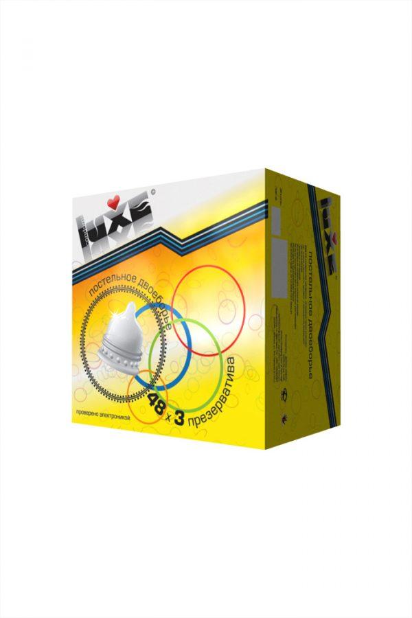 Презервативы Luxe КОНВЕРТ, Постельное двоеборье, 18 см., 3 шт. в упаковке, Категория - Презервативы/Классические презервативы, Атрикул 0T-00010772 Изображение 3