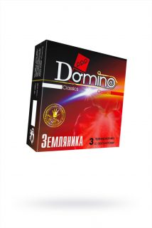 Презервативы Luxe DOMINO Classics земляника, 18 см., 3 шт. в упаковке, Категория - Презервативы/Классические презервативы, Атрикул 0T-00010802 Изображение 1