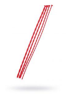 Набор уретральных зондов TOYFA Black&Red, 4 штуки, красный, Категория - БДСМ, фетиш/Медицинский фетиш, Атрикул 0T-00009987 Изображение 1