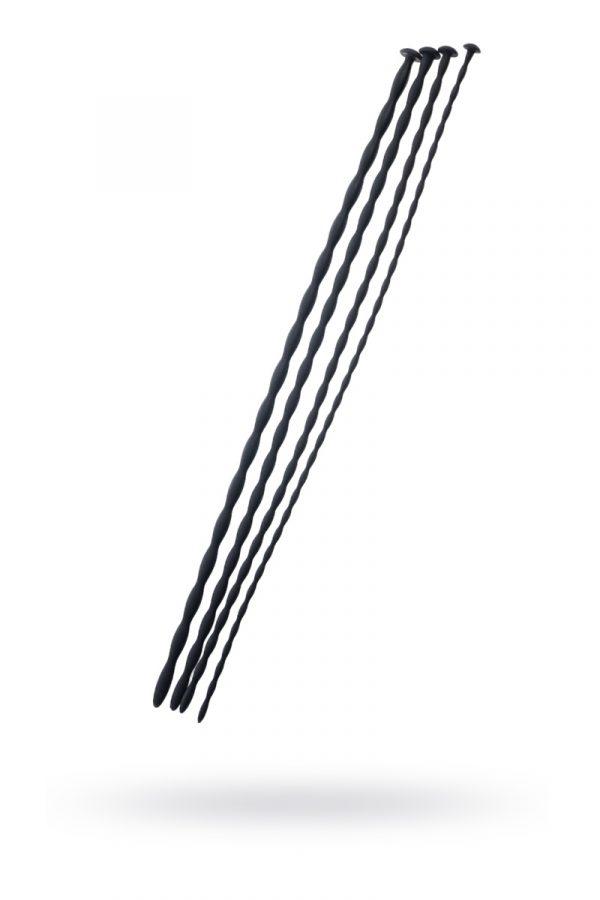 Набор уретральных зондов TOYFA Black&Red, 4 штуки, черный, Категория - БДСМ, фетиш/Медицинский фетиш, Атрикул 0T-00009986 Изображение 1