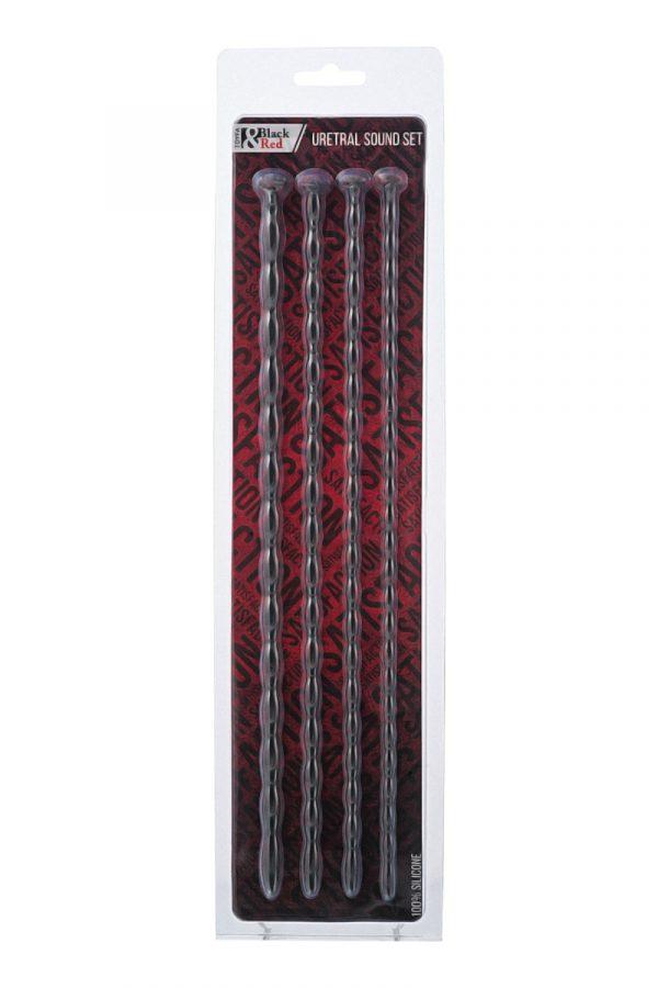Набор уретральных зондов TOYFA Black&Red, 4 штуки, черный, Категория - БДСМ, фетиш/Медицинский фетиш, Атрикул 0T-00009986 Изображение 2