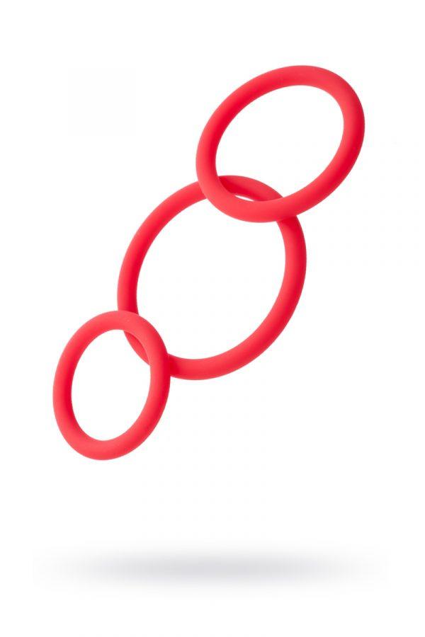 Набор эрекционных колец TOYFA Black&Red, Силикон, Красный, Ø6/5/4 см, Категория - Секс-игрушки/Кольца и насадки/Наборы колец и насадок, Атрикул 0T-00008510 Изображение 1