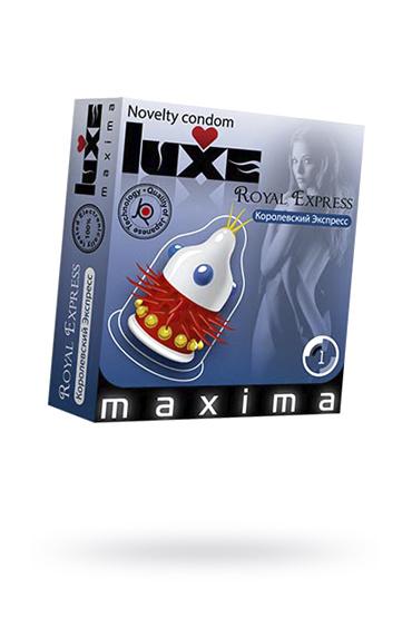 Презервативы Luxe Maxima Королевский экспресс №1, Категория - Презервативы/Рельефные и фантазийные презервативы, Атрикул 0T-00010908 Изображение 1