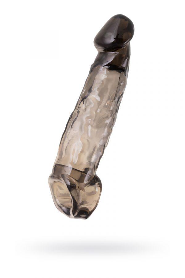 Насадка Toyfa XLover, для увеличения размера, TPE, черная прозрачная, 19.5 см, Категория - Секс-игрушки/Кольца и насадки/Насадки на пенис, Атрикул 0T-00010364 Изображение 1