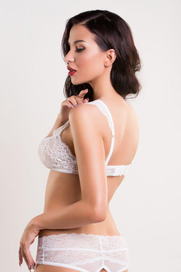 50-52 Бралетт кружевной Erolanta Lingerie Collection, белый (50-52), Категория - Белье и одежда/Женская одежда и белье/Корсеты, топы, Атрикул 0T-00010837 Изображение 3