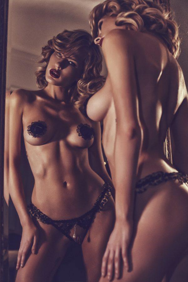 Наклейки на соски (пэстис) Anais Essena с кружевом, черные, Категория - Белье и одежда/Аксессуары для белья и одежды/Украшения на грудь, Атрикул 0T-00011098 Изображение 3