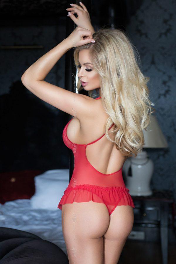 M/L Боди SoftLine Collection Emily, красное-M/L, Категория - Белье и одежда/Женская одежда и белье/Боди и комбинезоны, Атрикул 0T-00011191 Изображение 2