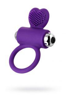 Виброкольцо с ресничками JOS PERY, силикон, фиолетовое, 9 см, Категория - Секс-игрушки/Кольца и насадки/Кольца на пенис, Атрикул 0T-00011169 Изображение 1