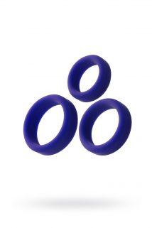 Эрекционное кольцо на пенис TOYFA A-Toys, Силикон, Фиолетовый, Ø4,5/3,8/3,2 см, Категория - Секс-игрушки/Кольца и насадки/Кольца на пенис, Атрикул 0T-00010984 Изображение 1