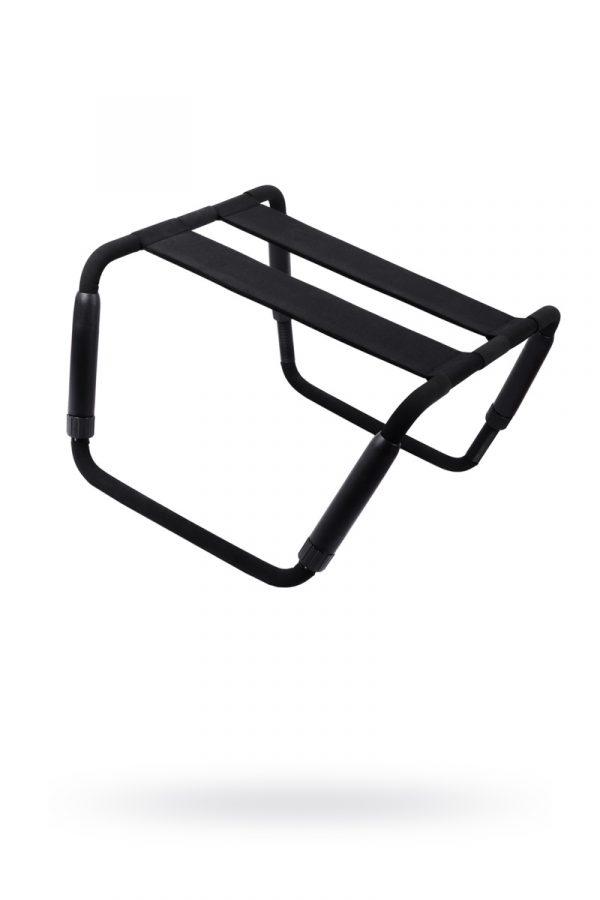 Раскладной стул для любовных игр Romfun, металл и неопрен, чёрный, Категория - Секс-игрушки/Секс-машины и аксессуары для секса/Секс-мебель, Атрикул 0T-00011431 Изображение 1