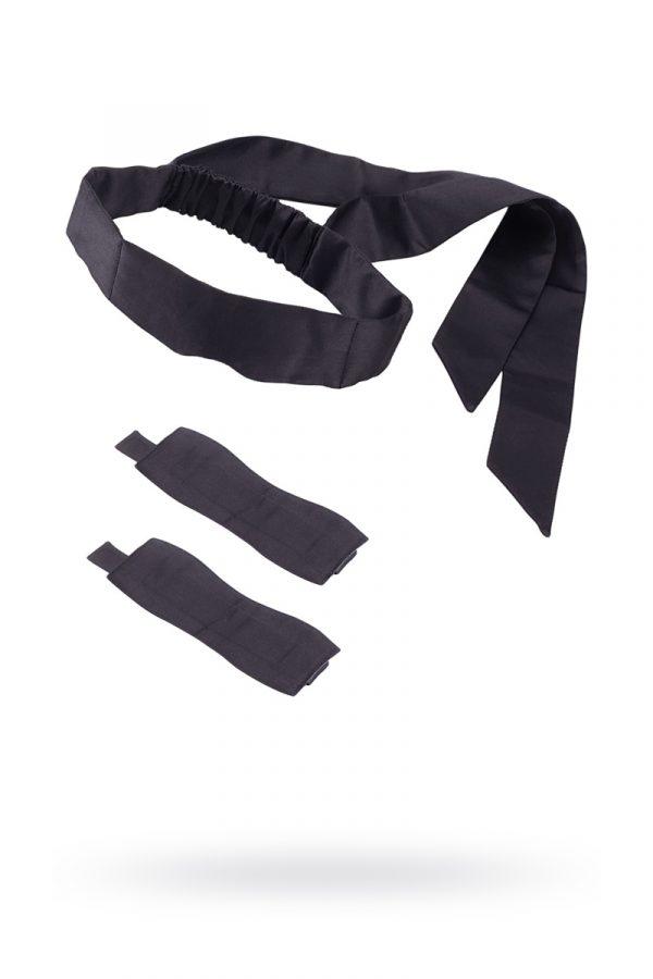 Набор для фиксации Romfun, неопрен, чёрный, Категория - БДСМ, фетиш/Фиксация и бондаж/Наборы для фиксации, Атрикул 0T-00011427 Изображение 1