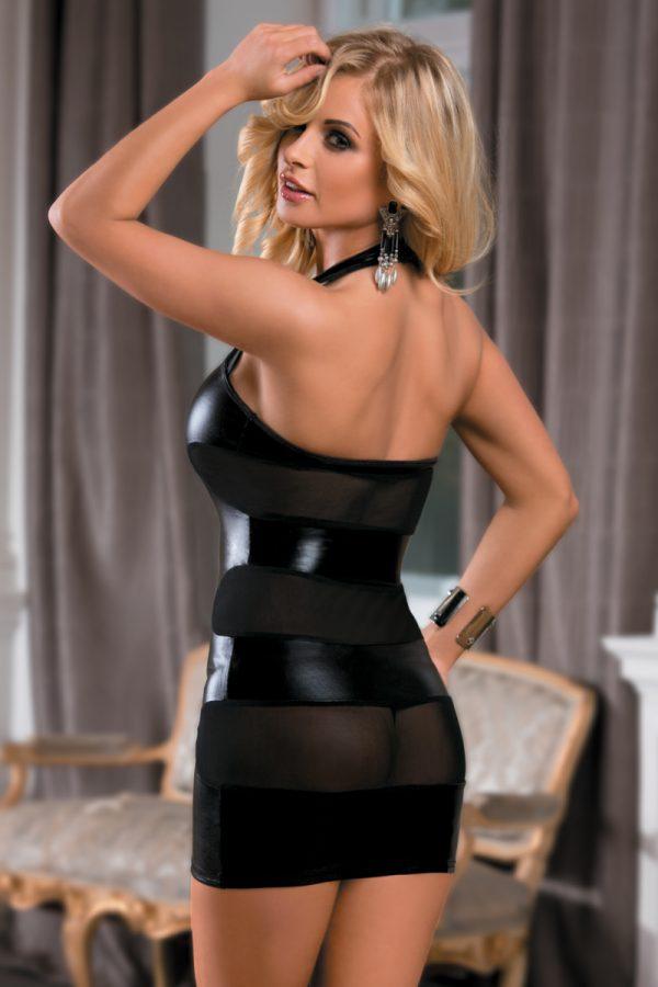 XL XL Платье Candy Girl, wetlook, черное, Категория - Белье и одежда/Женская одежда и белье/Эротические платья, юбки, Атрикул 0T-00011109 Изображение 2