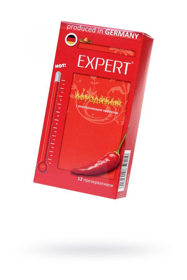 Презервативы Expert ''Афродизиак'' №12, возбуждающие с разогревающим эфектом, 12 шт, Категория - Презервативы/Классические презервативы, Атрикул 0T-00011612 Изображение 1